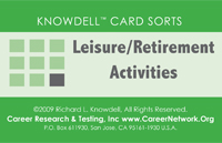Knowdell Leisure and Retirement Activities Card Sort