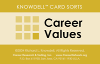 Knowdell Career Values Card Sort Image